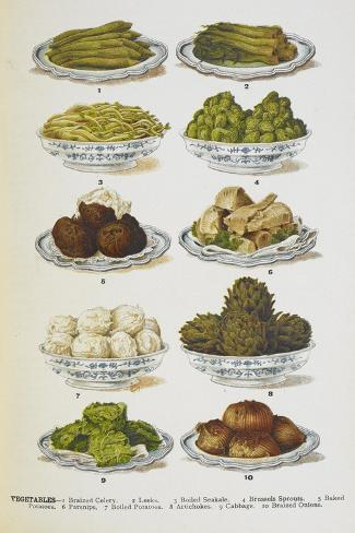Assorted Vegetable Dishes Giclée-vedos