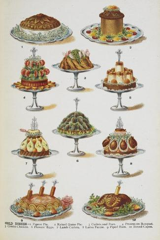 Various Cold Meat Dishes Giclee Print