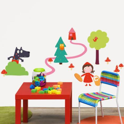 Isabelle Jacque Little Red Riding Hood Wall Stickers Wall Decal