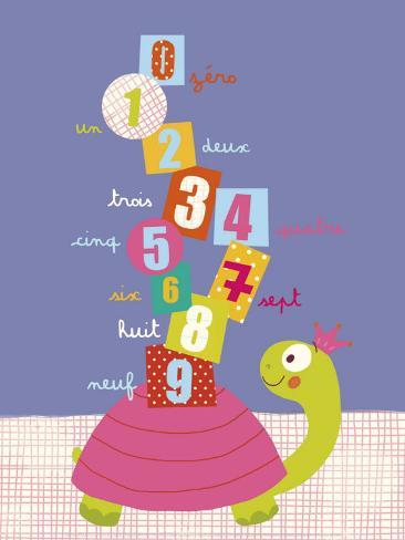Numbers on a Turtle Art Print