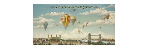 Ballooning over London Premium Giclee Print
