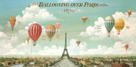 Ballooning Over Paris Prints by Isiah and Benjamin Lane - at ...