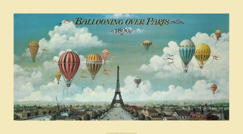 Ballooning Over Paris Print by Isiah and Benjamin Lane - at ...