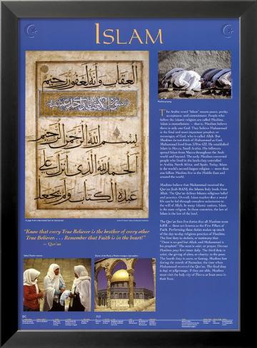 Islam Lámina enmarcada con plástico protector