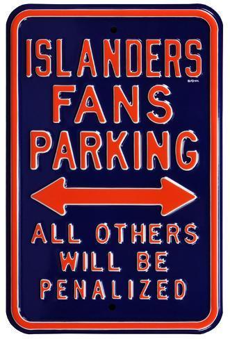 Islanders Penalized Parking Steel Sign Wall Sign
