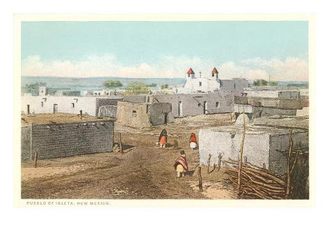 Isleta Pueblo, New Mexico Art Print