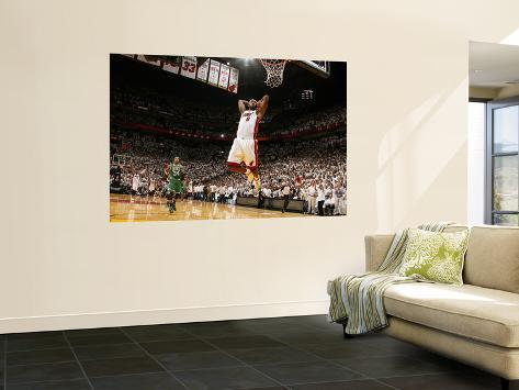Boston Celtics v Miami Heat - Game Five, Miami, FL - MAY 11: LeBron James and Paul Pierce Wall Mural