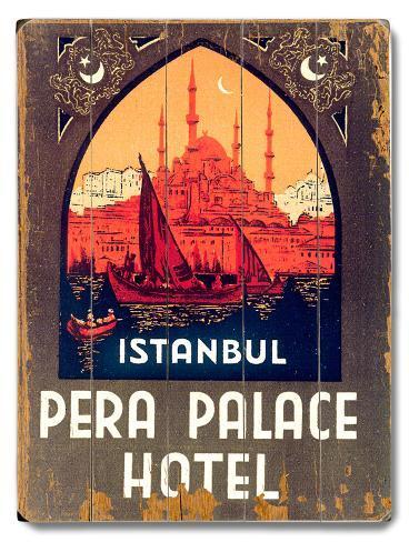 Istanbul Pera Palace Hotel Wood Sign