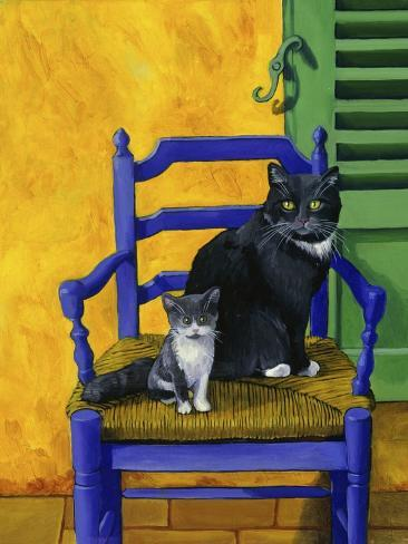 Cats of Provence (Chats de Provence) Giclee Print