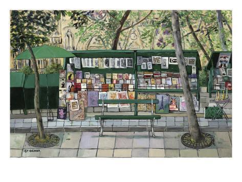 Les Bouquinistes, Paris Giclee Print
