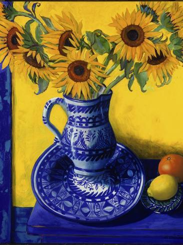 Sunflowers, Lemon, and Orange Giclee Print