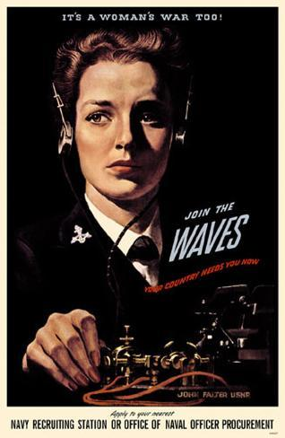 It's A Woman's War Too Join the Waves Masterprint