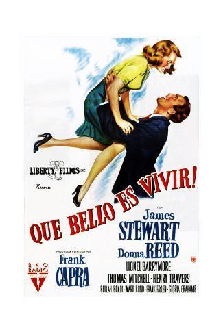 It's a Wonderful Life, (AKA Que Bello Es Vivir!), Spanish Poster Art, 1946 Lámina giclée