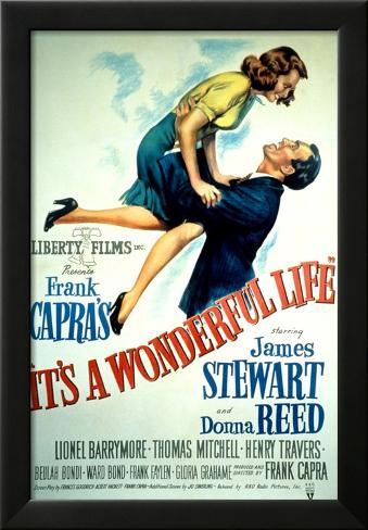 It's a Wonderful Life, Donna Reed, James Stewart, 1946 Framed Art Print