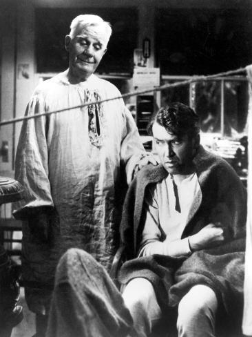 It's A Wonderful Life, Henry Travers, James Stewart, 1946 Photo
