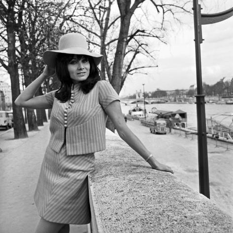 Italian Actress Maria Grazia Bucella in Pairs, 17 March 1967 Photo