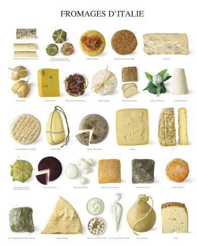 Italian Cheese Art Print