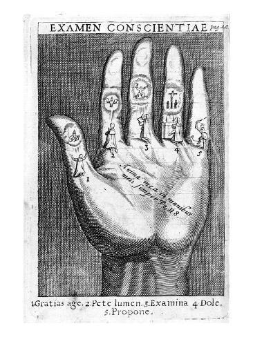 Examen Conscientiae, Illustration from 'Exercitia Spiritualia' by St. Ignatius De Loyola Giclee Print