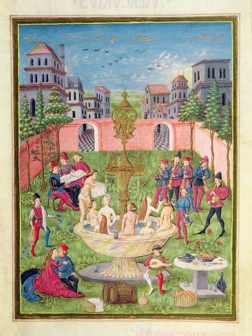 Ms. 'De Sphaera' Fol.11R the Fountain of Youth, 1470 Giclee Print