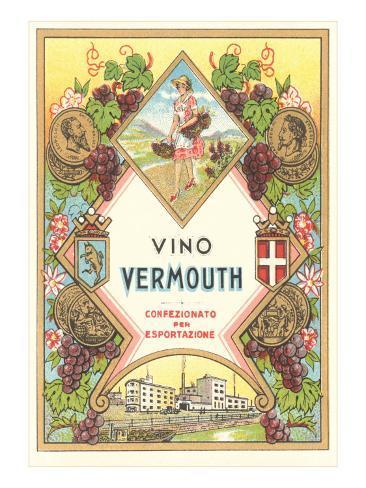 Italian Vermouth Label Art Print