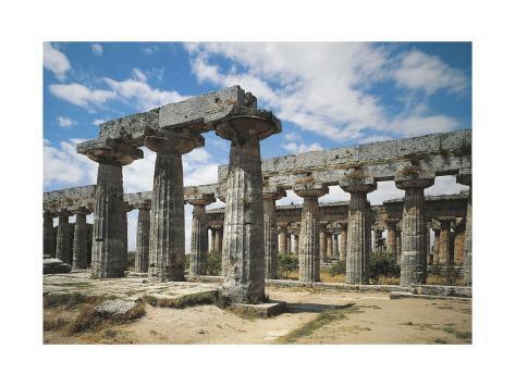 Italy, Campania Region, Paestum, Temple of Neptune Giclee Print