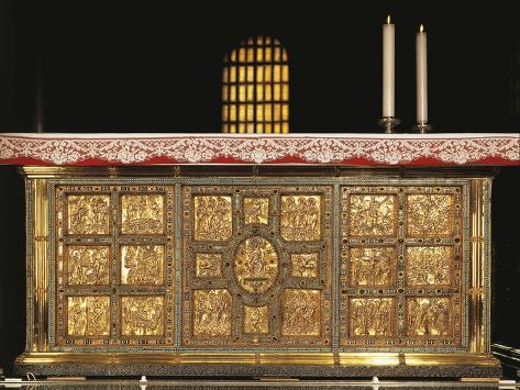 Italy, Milan, Basilica of Sant'Ambrogio, Front of Golden Altar or Frontal Giclee Print