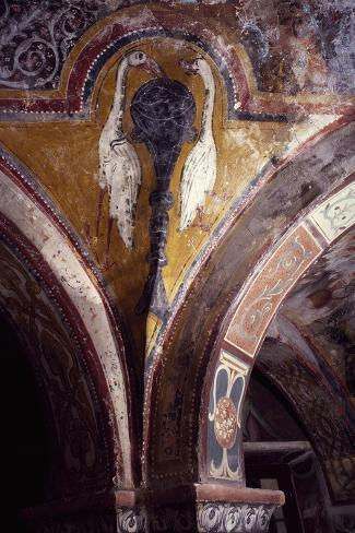 Italy, Subiaco, Sacro Speco Monastery, Chapel of St Gregory Decorations, 13th Century Giclee Print