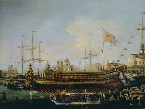 Italy, the Bucintoro in Venice Giclee Print