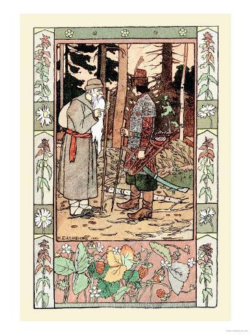 Old Man and Archer Impressão artística