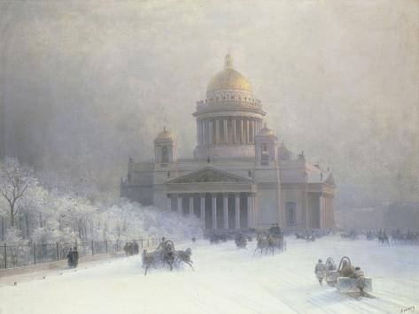 St Isaac's Cathedral, St Petersburg Giclee Print