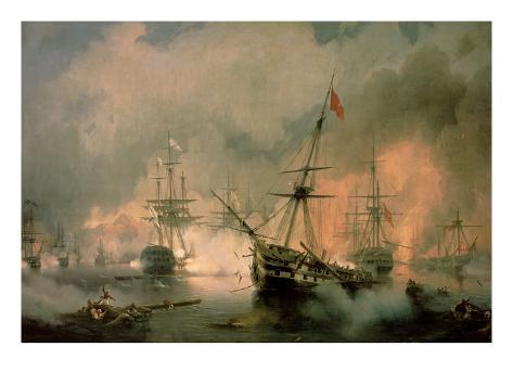 The Battle of Navarino, 20th October 1827, 1846 Giclee Print