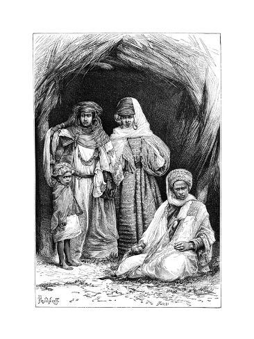 A Khumir Man, Woman and Child, North Africa, 1895 Giclee Print