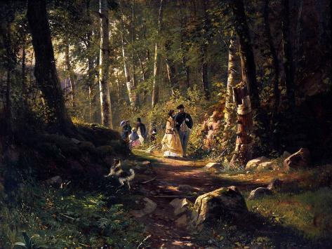 A Walk in a Forest, 1869 Giclee Print