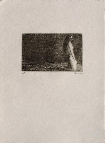 Femme nue agenouillée Lámina coleccionable