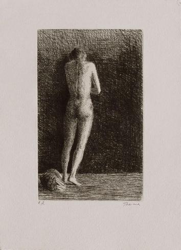 Femme nue debout Edición prémium