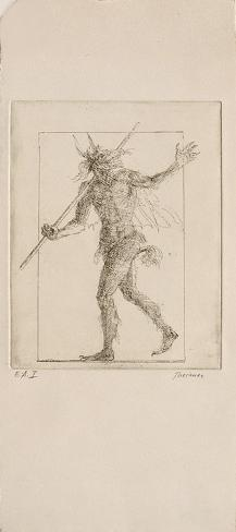 Minautore portant bâton (1er état) Lámina coleccionable