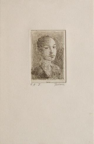 Portrait de Femme (1er état) Lámina coleccionable