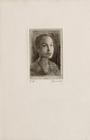 Portrait de Femme (2ème état) Lámina coleccionable