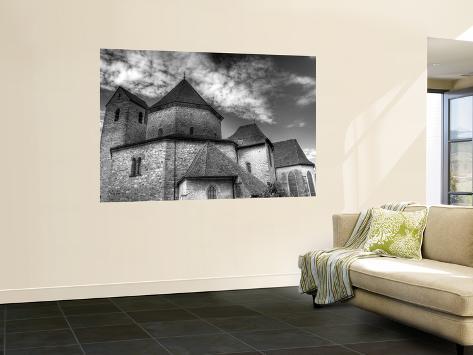 Abbey Church, Ottmarsheim, Haut-Rhin Department, Alsace, France Wall Mural