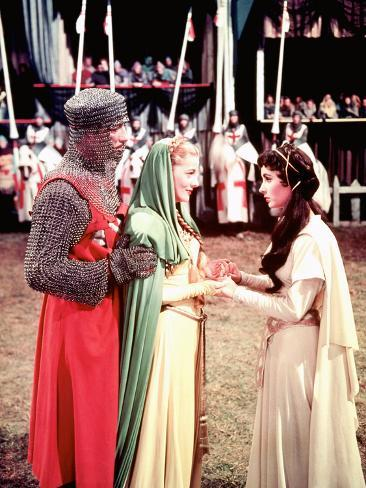 Ivanhoe, Robert Taylor, Joan Fontaine, Elizabeth Taylor, 1952 Photo