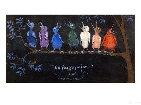 En Fargsymfoni (Symphony in Colour), 1906 Lámina giclée