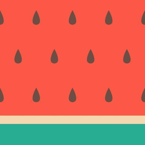 Minimalist Style Seamless Watermelon Pattern. Taidevedos