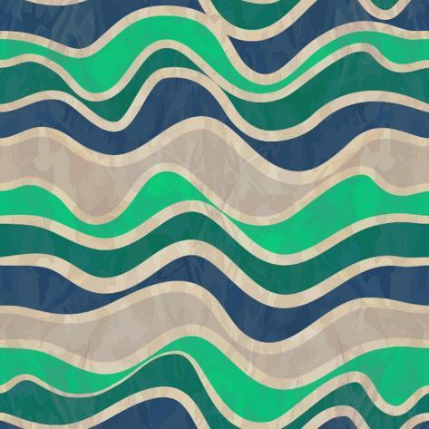 Seamless Vector Waves Texture Art Print