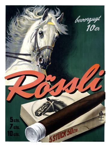 Rossli Cigars Giclee Print
