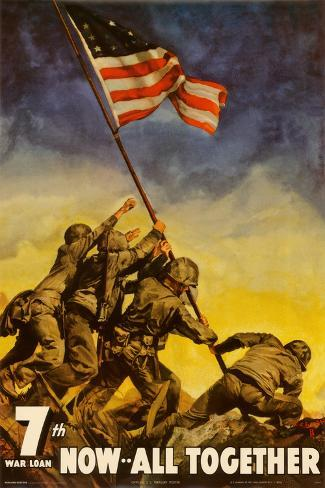 Iwo Jima - Now All Together Poster