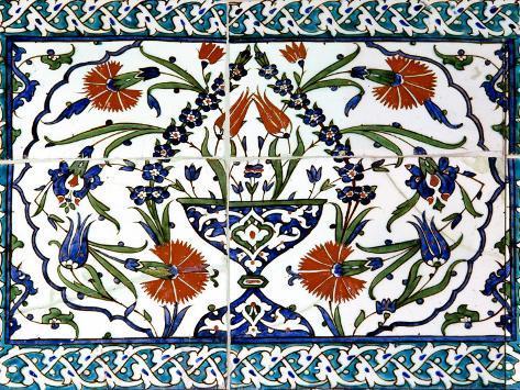 Iznik Tiles Detail at Hunkar Kasri Photographic Print