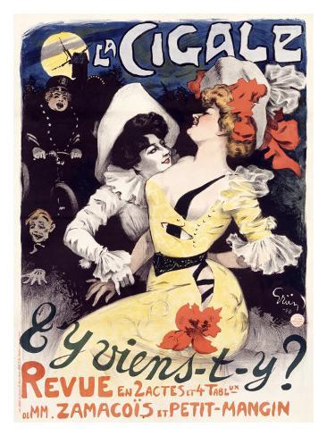 J.A. Grun la Cigale Giclee Print