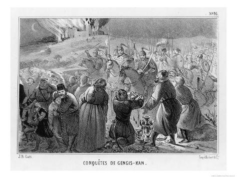 Genghis Khan Invades the West Impressão giclée