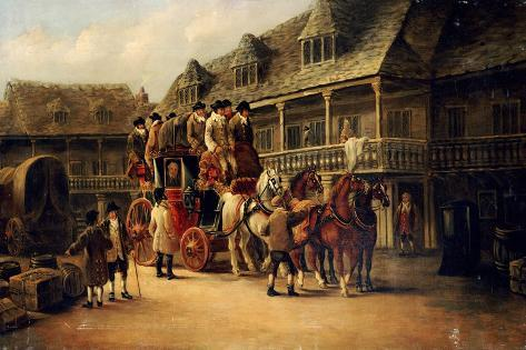 Boarding the Coach to London, 1879 Giclee Print