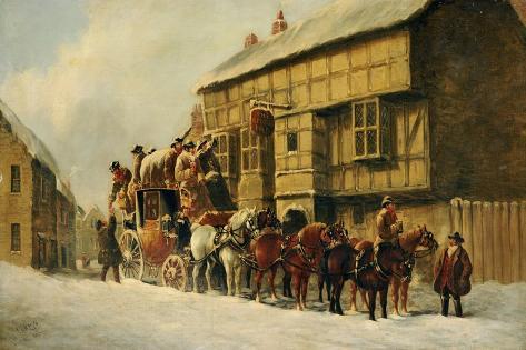 Outside the George Inn, 1879 Giclee Print
